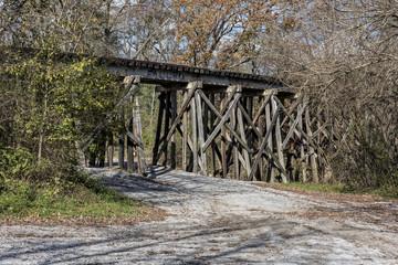 Railroad Trestle In The Ozone Falls State Area