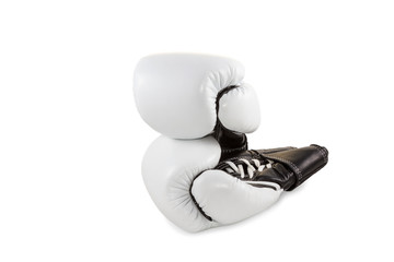 Pair leather boxing gloves
