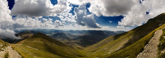 Panorama dal Monte Vettore escursione