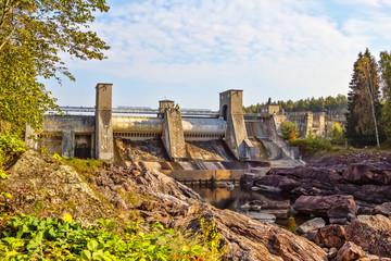 Imatra water power plant water dam, Finland