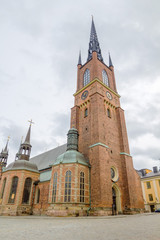 Riddarholmen Church tower at Stockholm, Sweden.