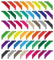 Set of isolated colorful ribbons