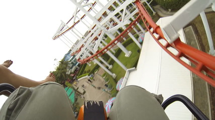 Motion of roller coaster. HD
