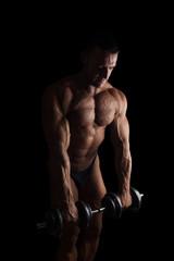 Sexy shirtless bodybuilder