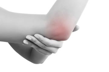 Elbow pain.