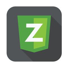 raster round icon of Z letter for zend framework