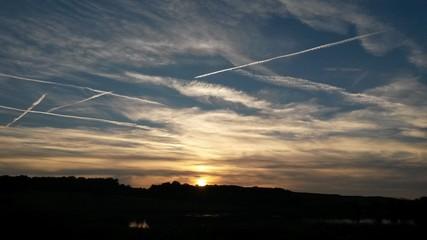 Sonnenuntergang wolkenhimmel