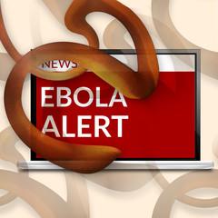 Ebola Alert computer screen