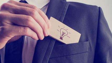 Creative businessman with a great idea