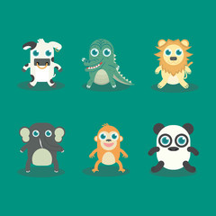 Vector illustration of Funny Animal Icon Set No.1