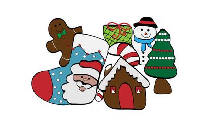 Objetos navideños.
