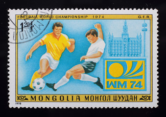 Post stamp. Football