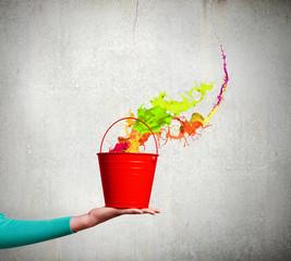 Bucket in hand