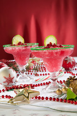 Frozen Pomegranate Margaritas