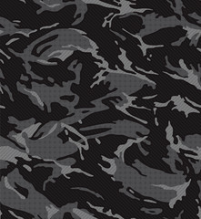 Black midnight camouflage pattern seamless