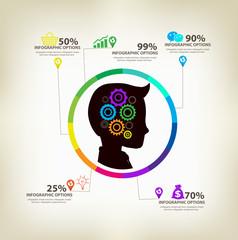 man ideas infographic concept