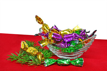 Christmas wrapped candies