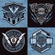 Sports emblem graphic crest set - 73019486