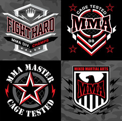 MMA mixed martial arts crest emblem graphics