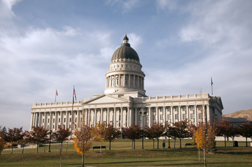 Utah State Capitol Building during the Autumn