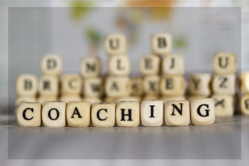personal coaching word on newspaper background