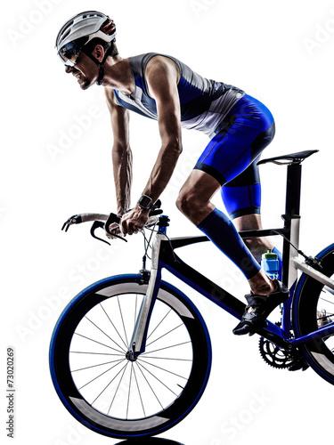 canvas print picture man triathlon iron man athlete cyclist bicycling