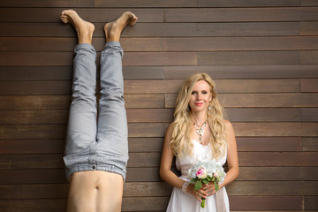 Funny young couple
