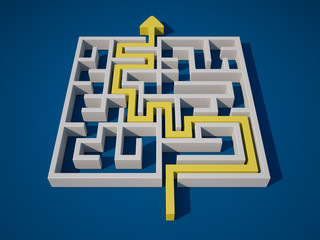Solving the Maze - High Quality 3D Render.