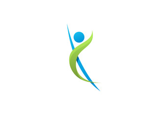 Body fitness Healthy logo Icon