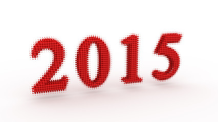 Represents the new year 2015