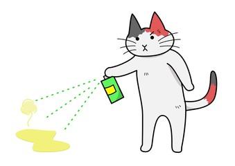 消臭する猫