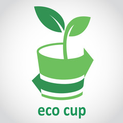 Eco cup  logo sample