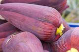 baba figue, fleur comestible du bananier, Réunion poster