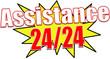 étiquette assistance 24/24
