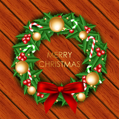 Vector Illustration of christmas wreath