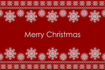 Vector Merry Christmas background with traditional christmas kni