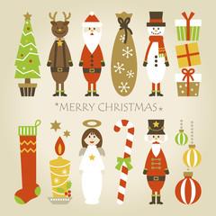 12 Christmas elements