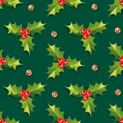 Holly Seamless Background