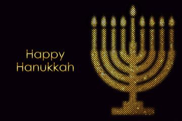 """Vector """"Happy Hanukkah"""" card"""