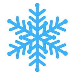 Vector illustration of blue snowflake
