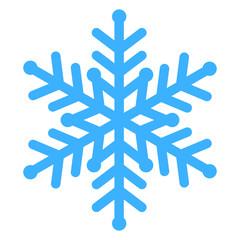 Vector illustration of blue snowflake