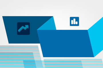 blue vector business marketing brochure