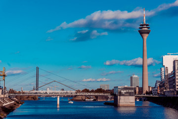 DUSSELDORF, GERMANY - NOVEMBER 08: the media harbour with Rhine