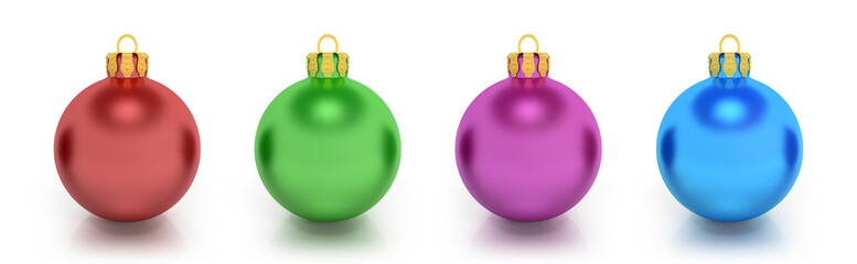 Four Colorful Christmas Balls - Shot 3