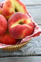 fresh juicy peach fig