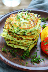 pancakes with zucchini and herbs