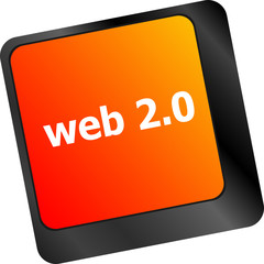 web 2 0 rss or blog concept with internet computer key