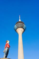DUSSELDORF - NOVEMBER 08: Rhine Tower (Rheinturm) on november 08
