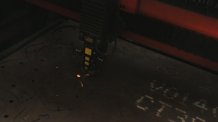 Metal cutting with laser