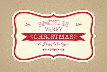 Merry Christmas Horizontal Frame Card
